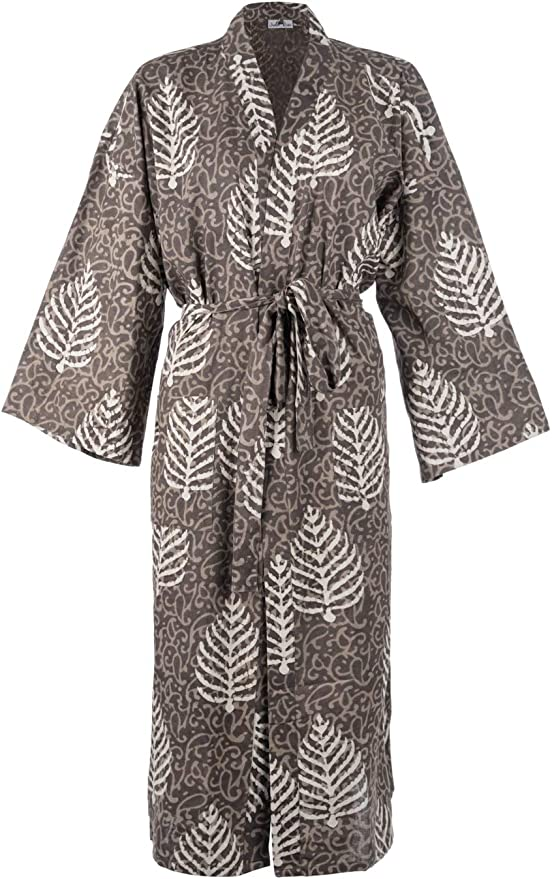 Dressing Gown Ladies Vintage Floral Print Lightweight Summer Robe