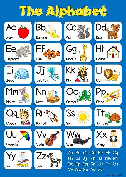 Póster de pared educativo para niños, diseño de alfabeto en ...