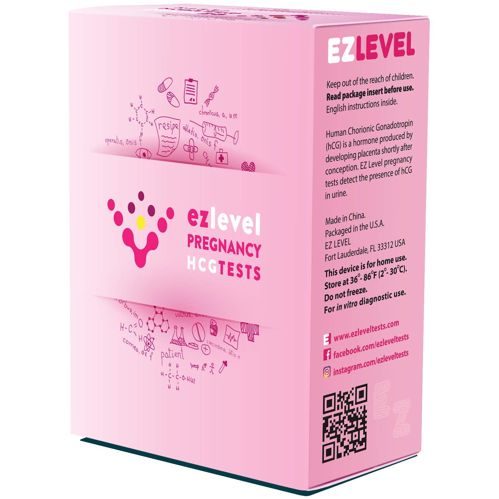 EZ Level 50 Pregnancy HCG Urine Test Strips (50 HCG) by EZ Level