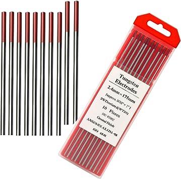 "Tungsten Electodes 3//32 x 7/"" Red"