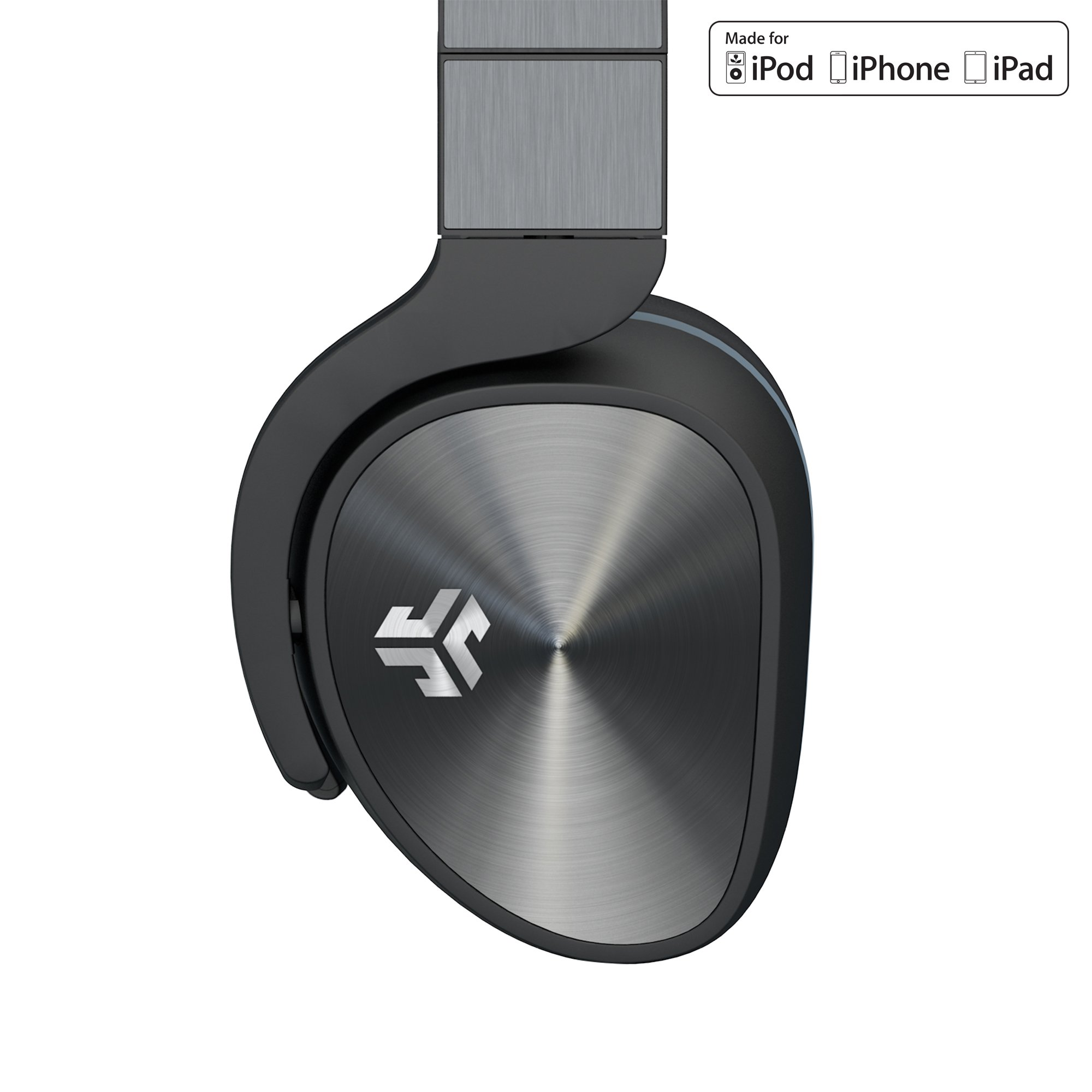 JLab Audio FLEX Studio DJ Style Headphones MADE FOR APPLE with METAL Build, GUARANTEED FOR LIFE, carrying Case and folding for easy travel.