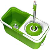 Mopnado Stainless Steel Deluxe Rolling Spin Mop With 2