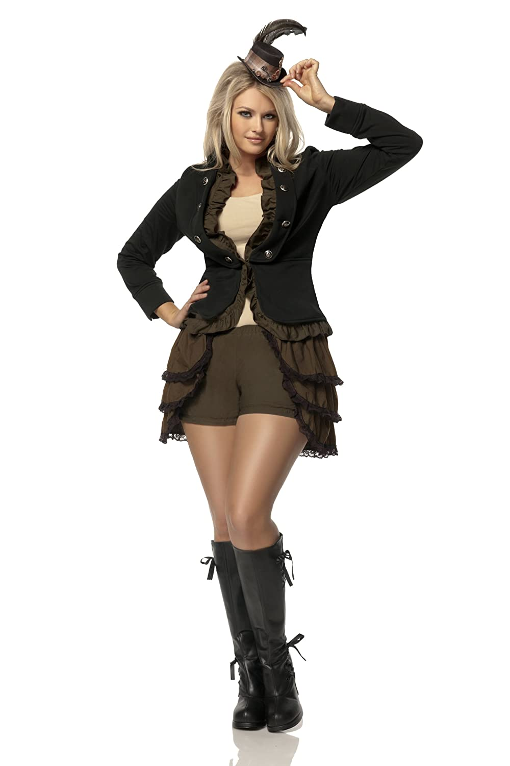 Mystery House Costumes Plus-Size Steampunk Lady Deluxe