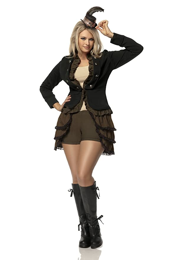 Steampunk Dresses | Women & Girl Costumes Mystery House Costumes Plus-Size Steampunk Lady Deluxe $95.52 AT vintagedancer.com