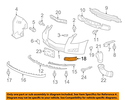 Genuine GM Parts 20757039 Driver Side Front Bumper Insert Genuine General Motors Parts