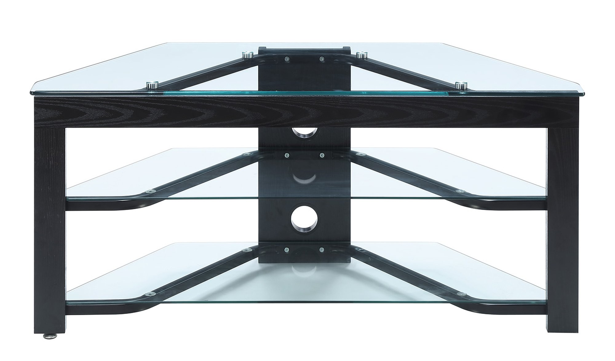 Convenience Concepts TV-01 Wood and Glass TV Stand for Flat Panel TV's Up to 46-Inch or 80-Pounds