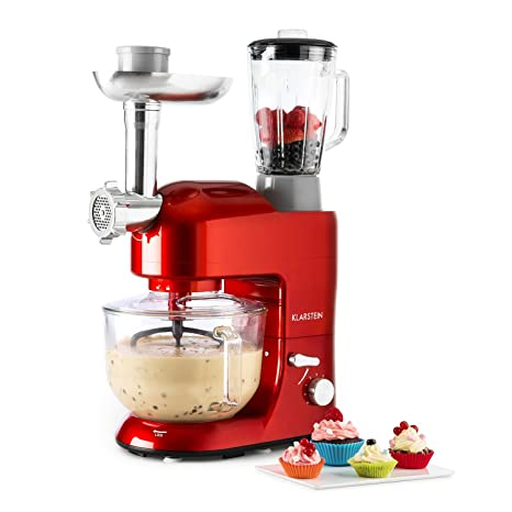 Klarstein Lucia Rossa 2G • Robot de cocina universal • Batidora • 1200 W • 5