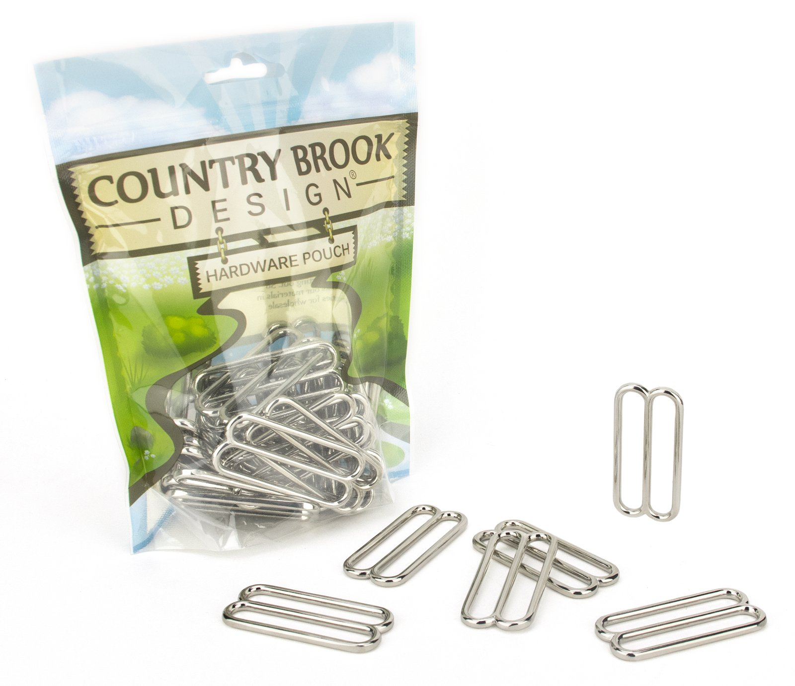 50 - Country Brook Design - 2 Inch Metal Round Triglide Slides by Country Brook Design