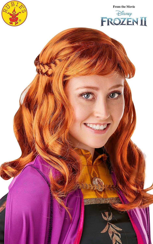 Peluca oficial de Disney Frozen 2, Anna de Rubies, accesorio para ...