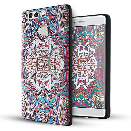 Opinioni per Huawei P9 Cover,Lizimandu Creative 3D Schema