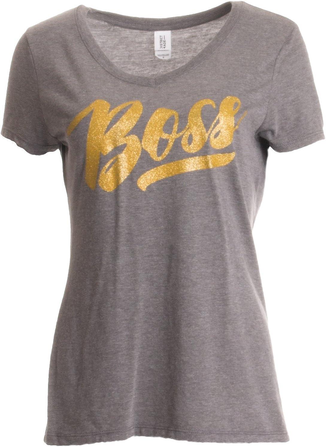 Boss Lady | Funny Bossy Alpha Female Glitter Glam Bling Ladies' V-Neck T-Shirt
