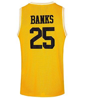 Amazon.com  JOLISPORT The Fresh Prince of Bel Air  25 Carlton Banks Academy  Basketball Jersey S-XXXL  Clothing 2b5db2f472ad