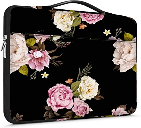 Plant Floral Flowers Laptop Bag,Shoulder Case Laptop Sleeve Bag Briefcase