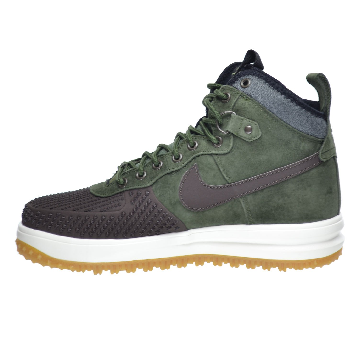 Amazon.com | Nike Lunar Force 1 Duckboot Men's Shoes Baroque Brown/Army  Olive-Black-Sliver 805899-200 | Boots
