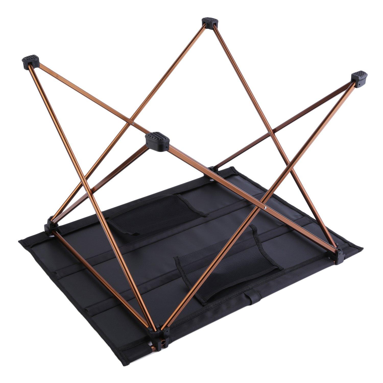 OUTAD Mesa Plegable Port/átil para Acampada//Camping Ultra Ligera y Resistente