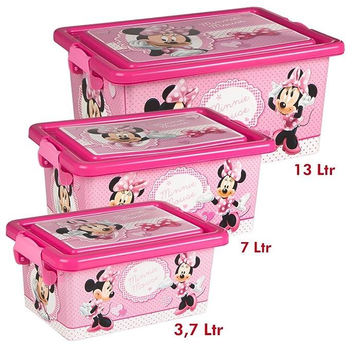 COLORBABY Minnie Mouse Lote 3 Cajas Ordenación 3,7 L / 7 L / 13 L: Amazon.es: Juguetes y juegos
