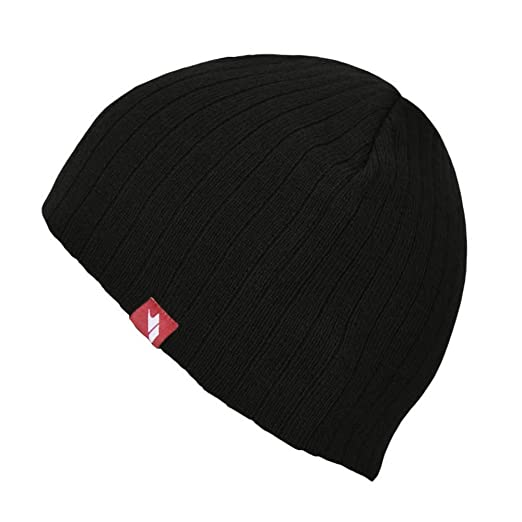 24820e610ad Trespass Mens Stagger Knitted Beanie Hat (One Size) (Black) at Amazon Men s  Clothing store