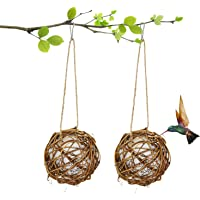 COYMOS Hummingbird Nesting, Globe Hummingbird House with Cotton for Nesting (2 Pack)