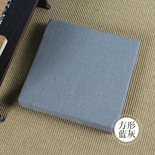 Lino Cuadrado Tatami Amortiguadores De Asiento, Japonés ...