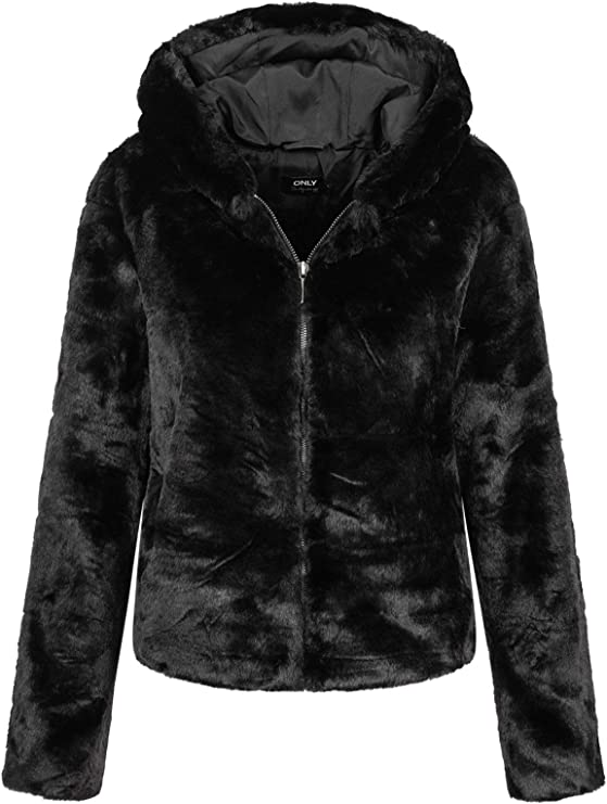 TALLA XS. Only Onlchris Fur Hooded Jacket Otw Noos Chaqueta para Mujer