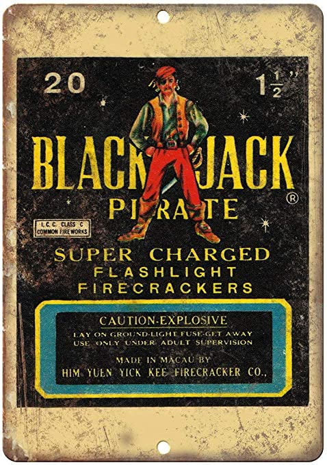 Shunry Black Jack Pirate Firecrackers Placa Cartel Vintage ...