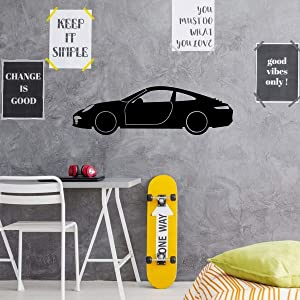 Porsche Wall Decor - Garage wall Decal - Motor Sports Vinyl Sticker for Bedroom, Playroom, Gameroom Or Man Cave Decor.