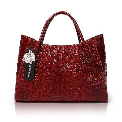 56cb8959d7ad APHISON Crocodile Embossed Handbags On Sale Promotion Handbag Hand Bags  Shoulder Bag Purse (22198red)  Handbags  Amazon.com