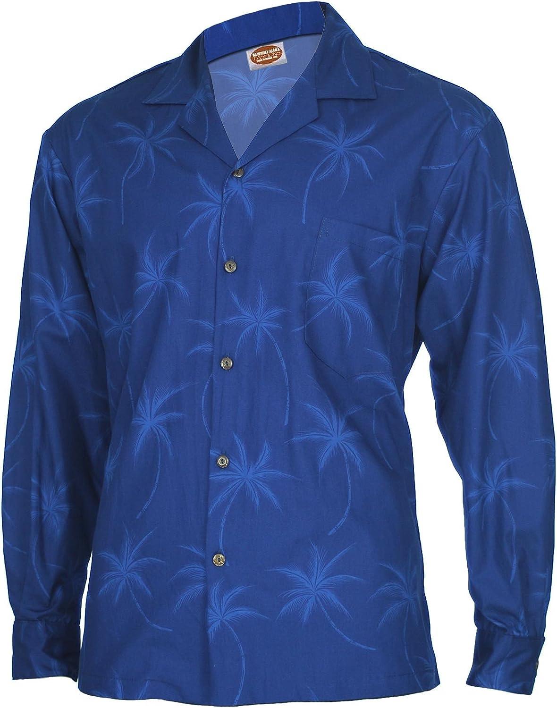 Long Sleeves Beach Palms Hawaiian Shirt