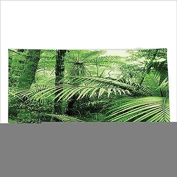Vipsung Mikrofaser Ultra Weiche Badetuch Tropical Rain Forest Grün Palmen  Und Exotischen Pflanzen In Jungle Mit