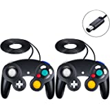 SogYupk Gamecube Controller,Wired Controllers Classic Gamepad 2 Pack Joystick ,compatible with Nintendo and Wii Console Game