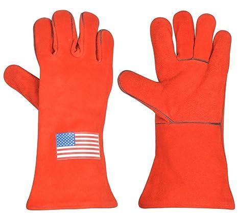 Aceite de fuego retardante de calor de soldadura Tig Mig soldador soldadura Industrial guantes