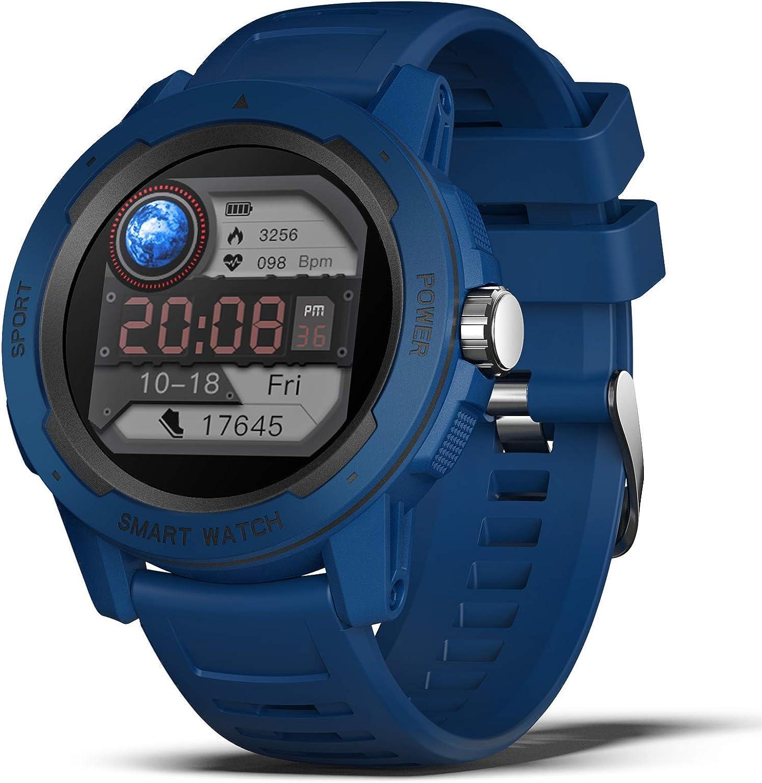 BingoFit Smartwatch für Herren,1,4 Zoll HD Fitness Armbanduhr mit Pulsuhr Schlafmonitor