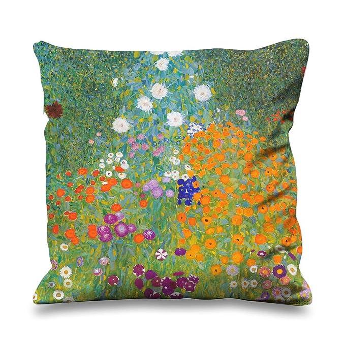 Amazon.com: Gustav Klimt Flower Garden Seda Sintética 17.7 x ...