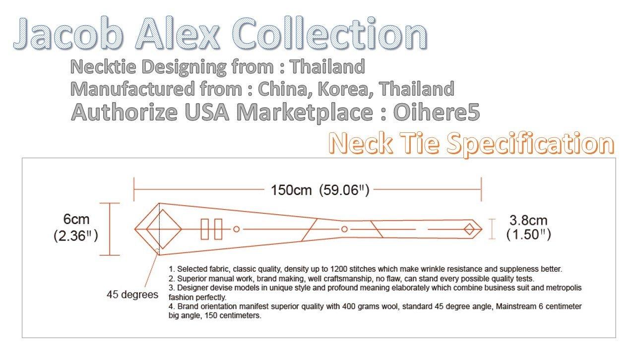 jacob alex #38601 Classic Necktie Black /& Brown Floral Ties WOVEN JACQUARD Silk Mens Suits Tie