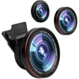 Cell Phone Camera Lens,0.6X Super Wide Angle Lens&15X Macro Lens, 2 in 1 Clip-on Professional HD iPhone Camera Lens Kit for iPhone X/8/7/6S/6s plus/6/5S,iPad Air,Samsung,Android Smartphones,Tablet