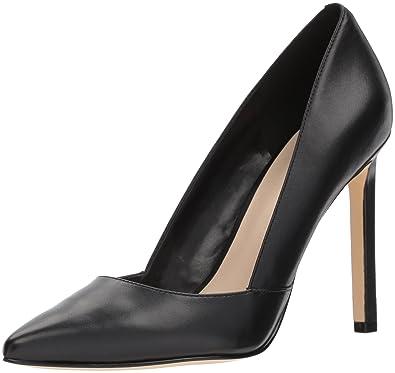 Nine West Women's Tijoo Leather Pump, Black Leather, 9 Medium US