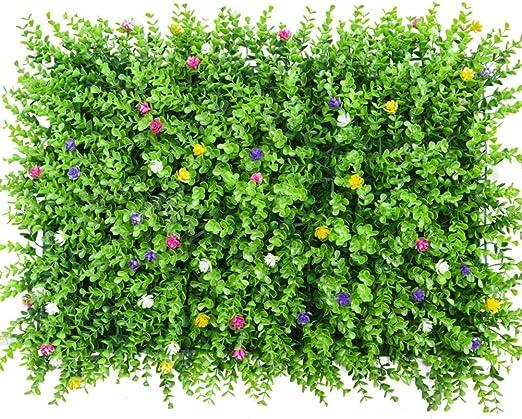 Paneles De Setos De Caja Artificial,alfombra Topiary De Arbustos De Hierba Sintética Telón De Fondo De La Pared De Greenery Al Aire Libre Interior Jardín Privacidad Pantalla Valla-k 60x40cm(24x16inch): Amazon.es: Jardín