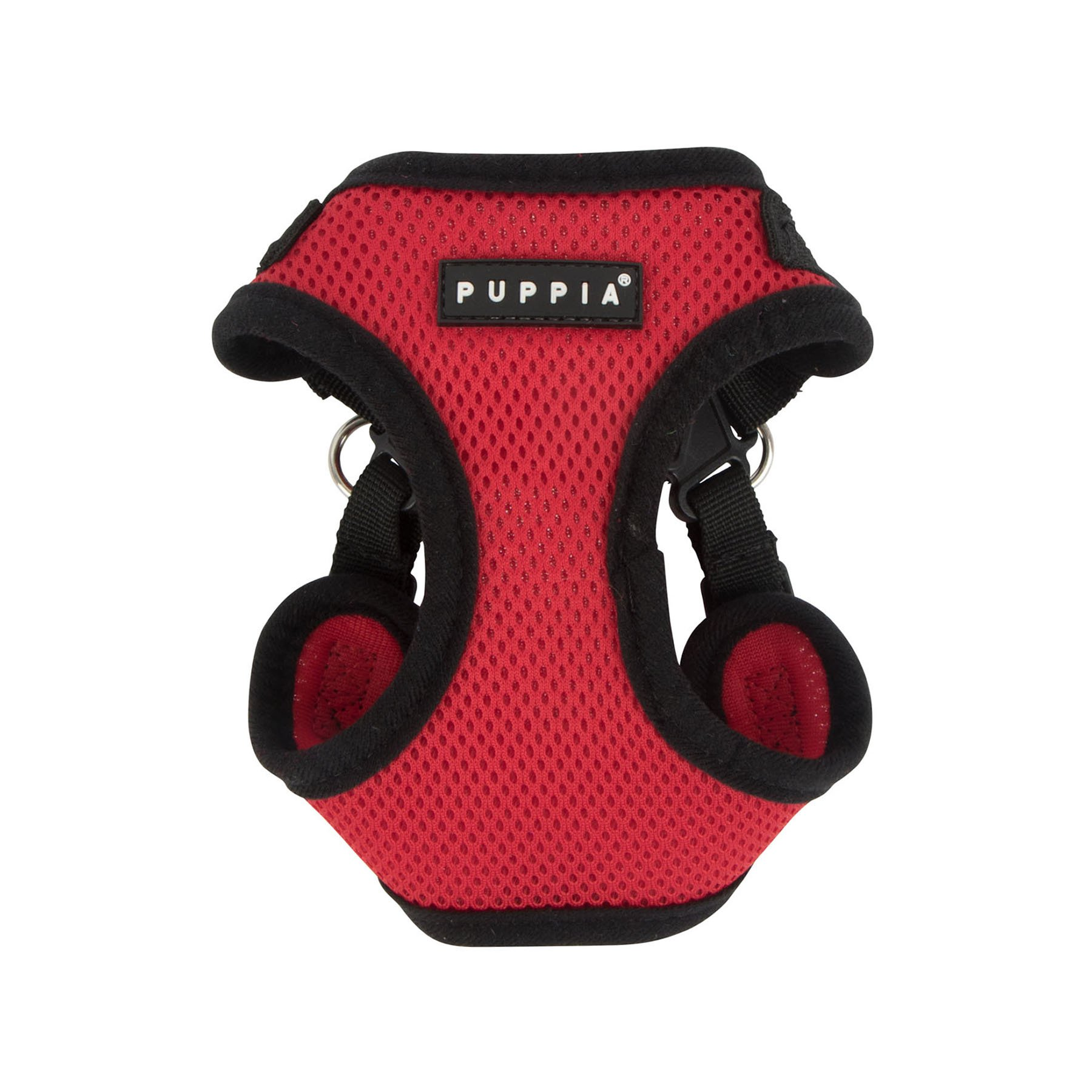 Puppia PARA-HC1533-RD-S Red Soft Harness C Pet-Vest-Harnesses, Small