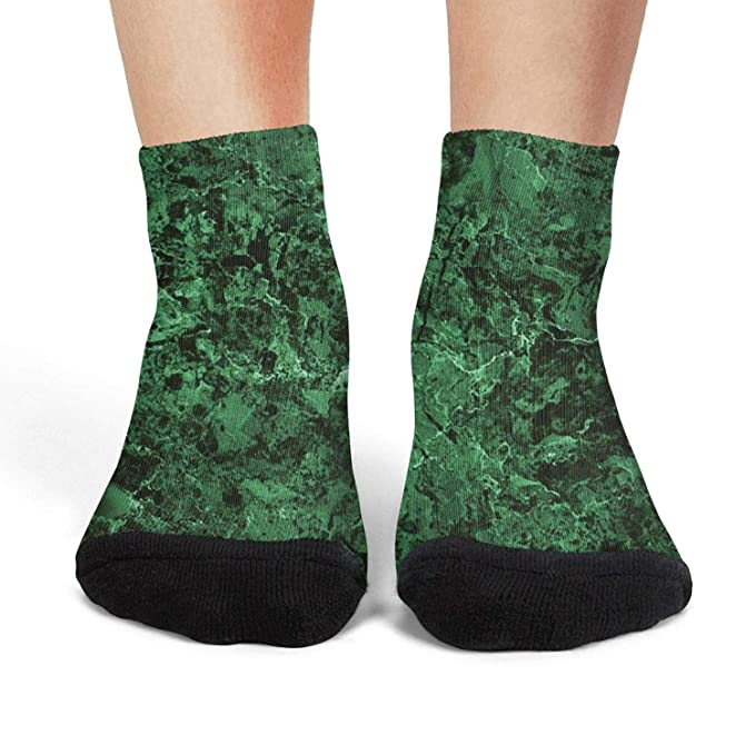 cb46d4d0744ea Green Emerald Marble Abstract Women Comfortable Polyester Compression Short  Socks at Amazon Women s Clothing store
