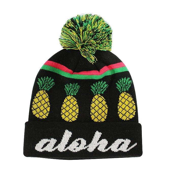 Amazon.com  ChoKoLids Aloha Pineapple Pom Pom Beanie Fun Novelty ... f81ffc20c