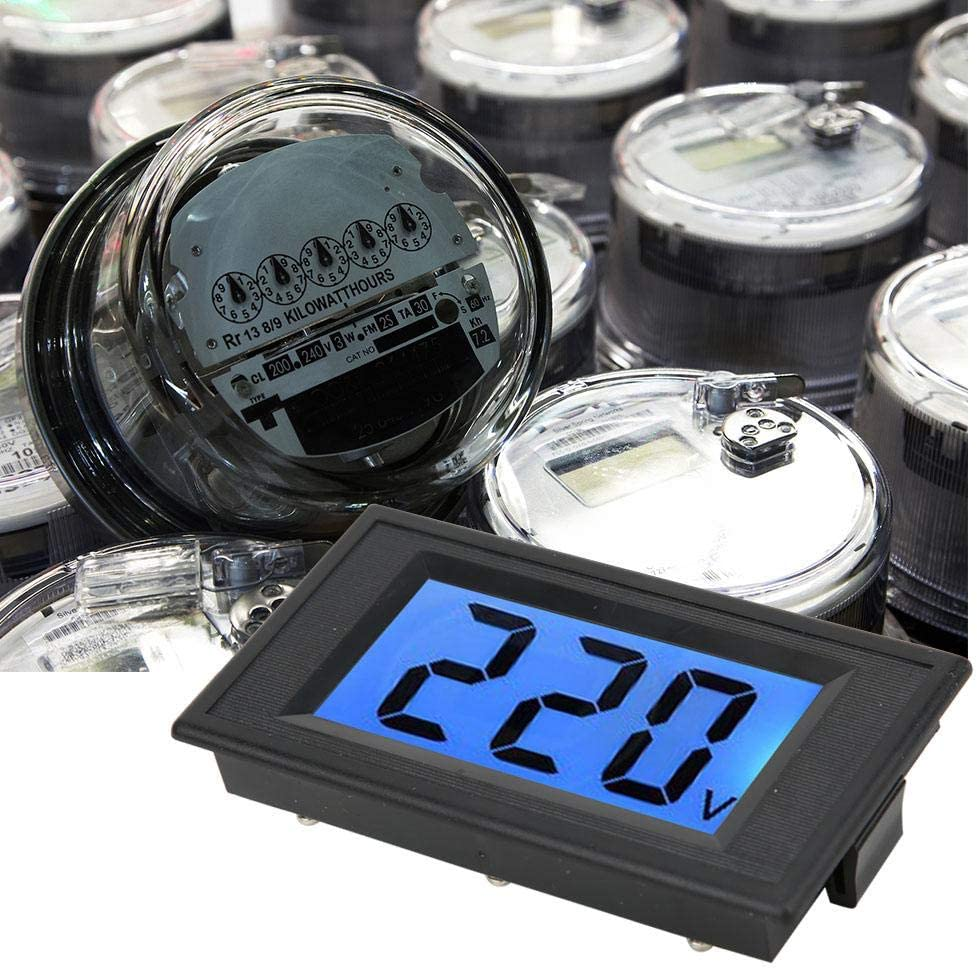 AC80-500V Two-Wire for AC Circuit Voltage Test AC 220V Mains Electricity Test Voltage Meter Digital Panel Meter