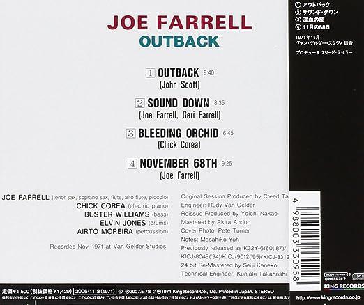 Outback: Joe Farrell: Amazon.es: Música