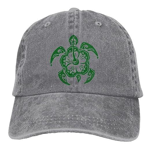 c1e7b16c4db Amazon.com  Mens Womens Baseball Cap Hat Hawaiian Sea Turtle Washed Jean  Trucker Hat for Women  Clothing
