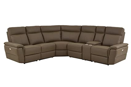 Miraculous Amazon Com Obara 6Pc Power Sectional With Non Power Armless Bralicious Painted Fabric Chair Ideas Braliciousco