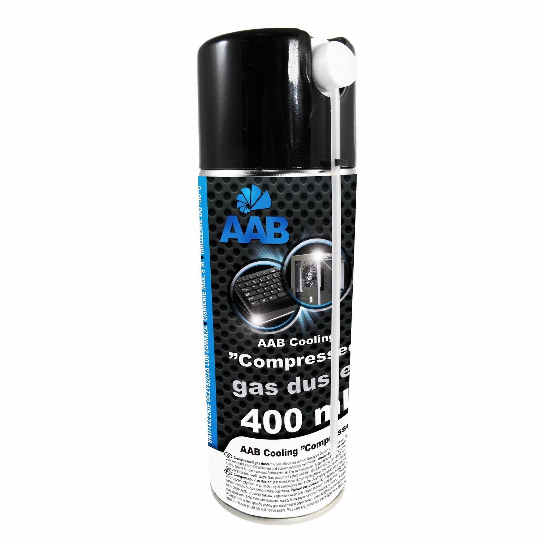 2 x AAB Spray de Aire Comprimido 400ml - Limpiar Teclados, Ordenadores, Copiadoras, Cámaras, Impresoras y Otros Equipos Eléctricos   Efectividad Limpieza ...