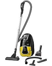 Rowenta RO6864EA Aspirateur avec Sac X-Trem Power AAAA Home & Car 4,5L Accessoires Spéciaux Poils d'Animaux et Voiture 750W Noir et Jaune