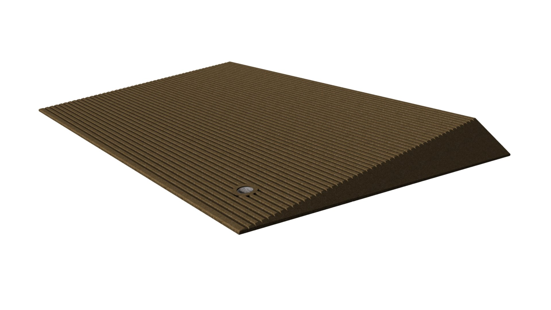 EZ-ACCESS TRANSITIONS Rubber Angled Entry Mat in Brown, 2.5'' Rise by EZ-ACCESS