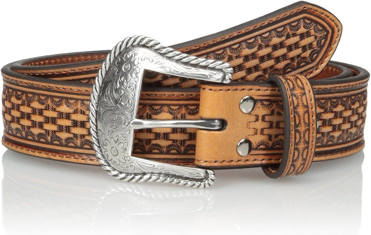 Nocona Mens Basic Brown Basket-Weave Belt