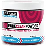 PureClean Powder – 100% USA Grown Organic Beet Juice Powder – No Fillers, Sweeteners, or Additives – 300 grams – Twice the Nitric Oxide Support – Cold Temperature Processed for Maximum Potency