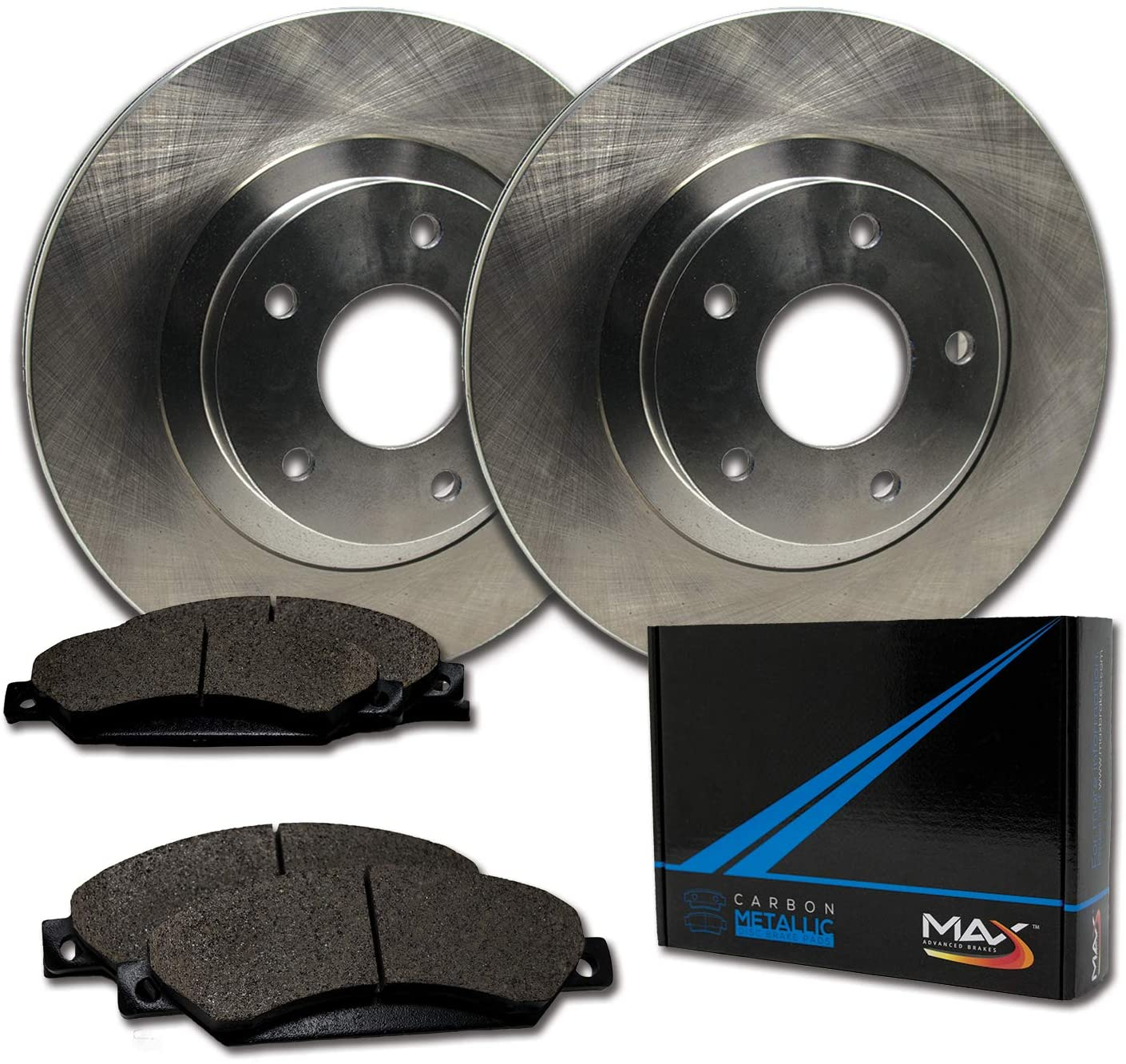 Front Max Brakes Cheap SALE Start Premium OE Rotors Metallic Carbon T with El Paso Mall Pads